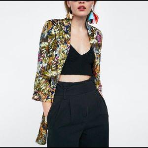 ❣️LastChance❣️Zara Floral Printed Blazer